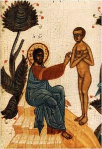 Икона: сотворение человека Богом