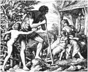 Адаи и Ева с детьми