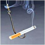 Дымящаяся сигарета наживка