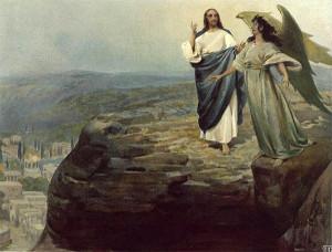 Сатана искушает Христа